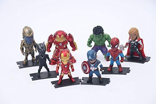 MIRECLE 8 Estilo de Dibujos Animados Vengadores Hierro Hombre Juguete Modelo muñeca Ornamento 10 cm