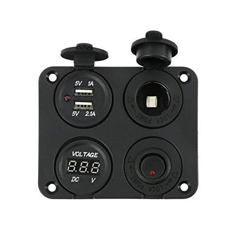 XIAOSHI Little Oriental 12V Auto-Motorrad-Boot Zigarettenanzünder Embedded USB-Zigaretten-Feuerzeug-Auto geändertes Auto-Zubehör
