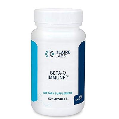 Klaire Labs Beta-Q Immune - 250 Milligrams Beta-Glucan & Antioxidant Quercetin Antioxidant Immune Support (60 Capsules)