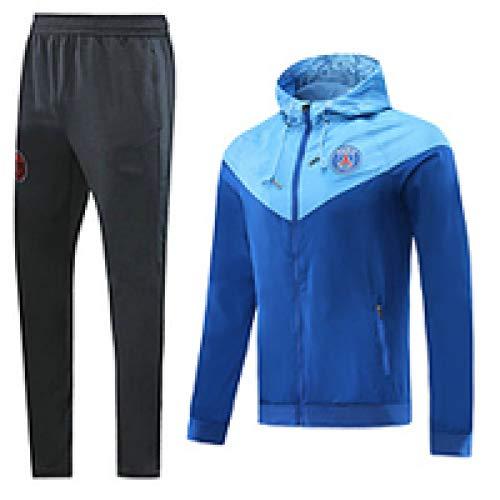CCJJ Camiseta 2019 para Hombre Fútbol Cortavientos Traje Sǎint-Gěrmǎǐn Equipo Transporte Uniforme Manga Larga Capucha Top Top Pantalones Ventilador Ropa Deportiva, Bola c XL