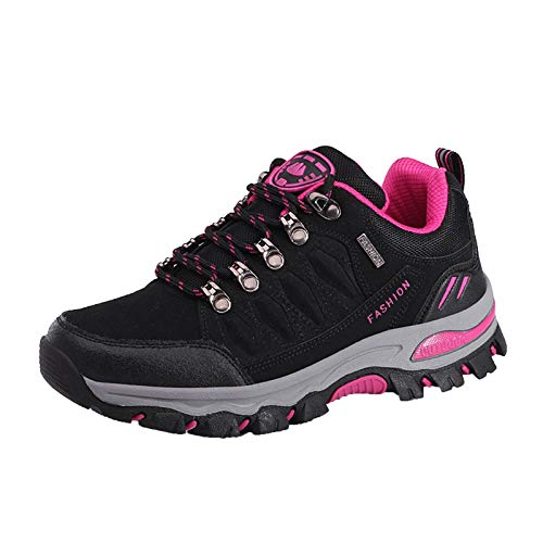 Aniywn Women's Hiking Shoes Breathable Climbing Trekking Shoes Outdoor Sports Sneakers Non-Slip Climbing Sneakers Black