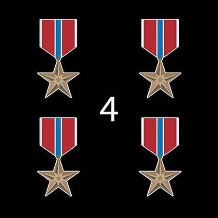 New No Prong 5//16 Bronze Single Star Device Military Medal Ribbon 3C4