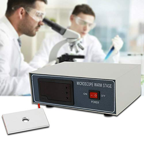 Compact Slide Warmer 110V Microscope Warm Stage Heating Table 32W Digital Temperature Control LED Display Thermostatic Hot Plate Laboratory Pig Artificial Equipment USA Stock