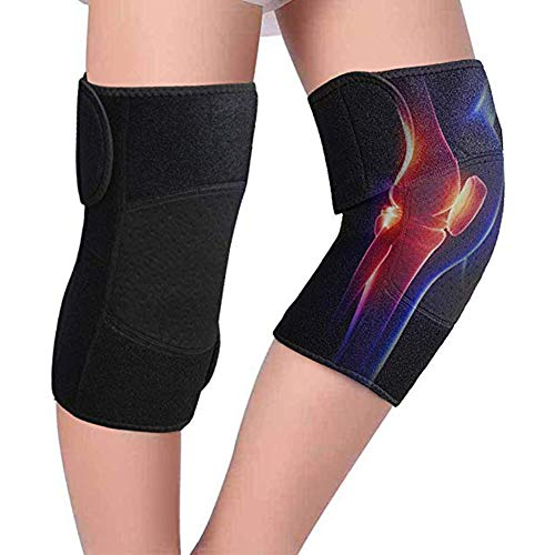 JMYSD Turmalin-Kniestütze, Selbsterhitzende Magnetische Kniebandage Mit Austauschbaren