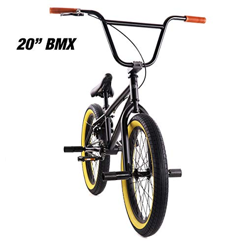 "Elite 20"" BMX Bicycle The Stealth Freestyle Bike New 2020 (Black Gum)"