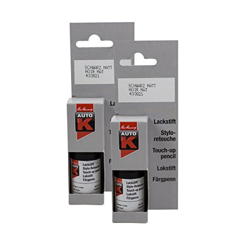 Kwasny 2X 433 021 Auto-K Auto-K Lackstift Schwarz Matt 9ml