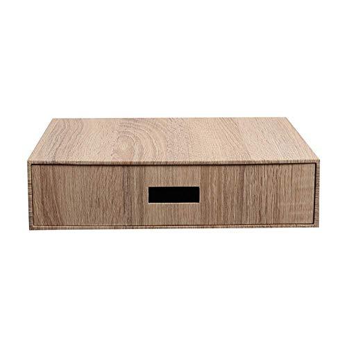 XWYSSH Veranstalter Büro-Aufbewahrungsbehälter Woodgrain-Papierkassette Stationery Typ Büro Speicherordner Aufbewahrungsbox Lagerung Box Office Bücherregal