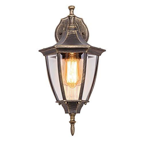 ZCCLCH Lámpara de Pared Vintage Estilo Europeo Focos Retro Lámpara de Pared Impermeable al Aire Libre Lámpara de balcón Creativa al Aire Libre Patio al Aire Libre Restaurante Sala de Estar Aplique de