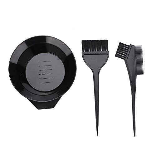 3 PCS Professional Salon Hair Coloring Dyeing Kit New Version Hair Dye Brush and Bowl Set - Dye Brush & Comb/Mixing Bowl/Tint Tool, Perfect Tools for Hair Tint Dying Coloring Applicator