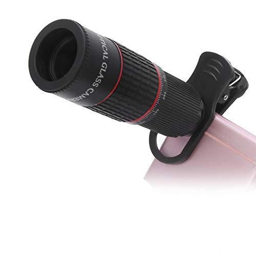 Bindpo Teleobiettivo di Cellulare, ingrandimento 20X HD Lente in Vetro Ottico Telescopio Esterno per Uccelli, Concerti, Fiammiferi
