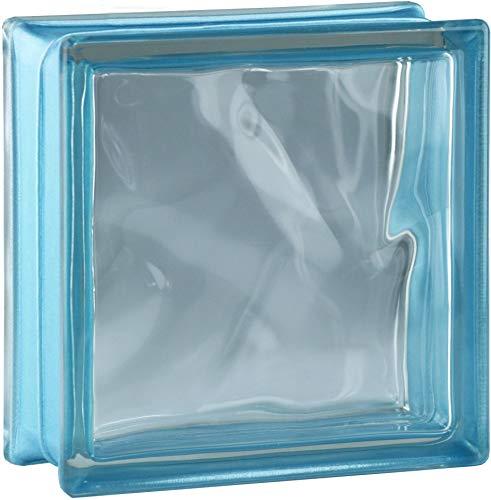 Fuchs Design 6 Stück Glassteine BM Glassteine Wolke Reflex Indigo Glasstein glänzend 19x19x8 cm
