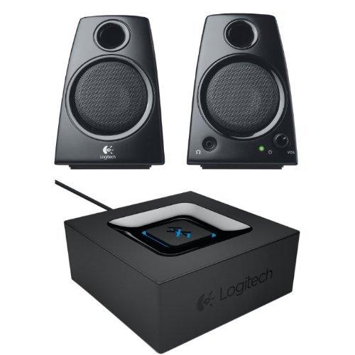 Logitech Z130 2.0 PC-Lautsprecher (5 Watt) schwarz + Logitech Bluetooth Audio Adapter schwarz