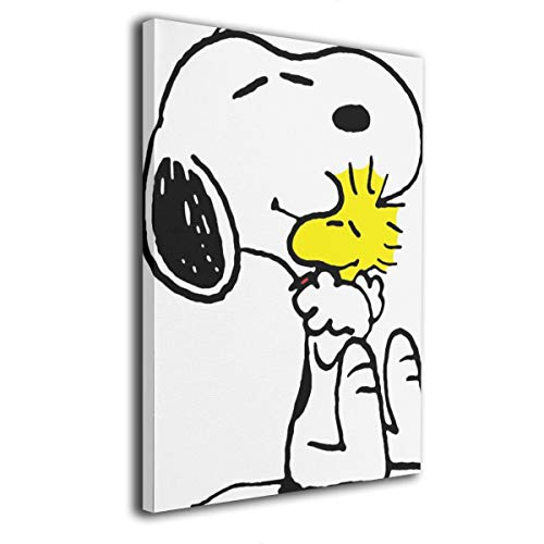 POLKJIH Snoopy Love Modern Abstract Wall Art Framed Canvas Prints Ready to Hang for Home Living Bed Dinning Room Office Wall Decor 12x16 Inches
