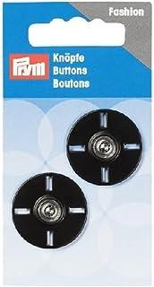 Prym Sew-on Snap Fasteners 圆形 25 毫米,黑色,9.3 x 4.9 x 0.5 厘米