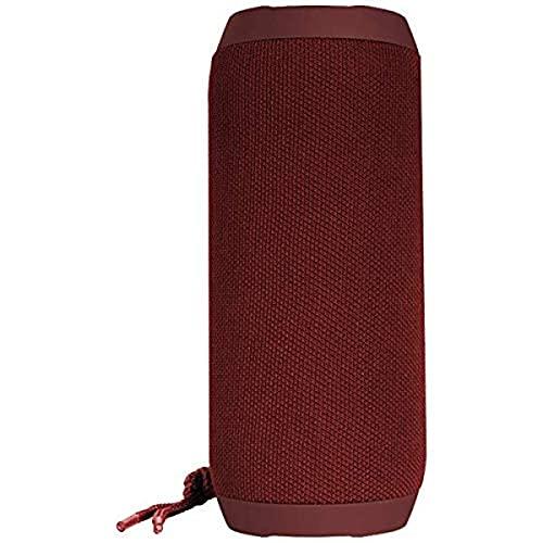 Denver BTS-110BORDEAUX Tragbarer Lautsprecher, FM-Radio-Tuner, Bluetooth- und USB-Anschluss, AUX-Eingang und SD-Kartensteckplatz, wiederaufladbarer Akku mit 1200 mAh, Lautstärke: 10 W.