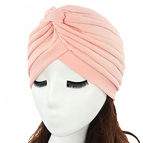 Dingyi Sombrero de Invierno para Mujer, Accesorios para el Cabello, Turbante de Tela elástica Simple, Gorro Hijab musulmán, Gorro de Mujer, Gorro de Bufanda Musulmana Gorro Noche Baotou Cap