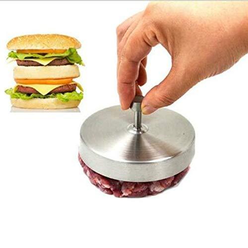 SUUUK Burgerpresse Burger Maker, Patty Press, hergestellt aus Aluminiumdruckguss und beschichtet mit lebensmittelechtem und antihaftbeschichtetem Material für Grills, spülmaschinenfest,Silber