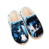 YZJYB Hombre Mujer Anime Invierno Cálido Pantuflas Memory Foam Casa Antideslizante Zapatillas Impresión 3D Dibujos Animados Coral Fleece Zapatos,Black Rock Shooter,270