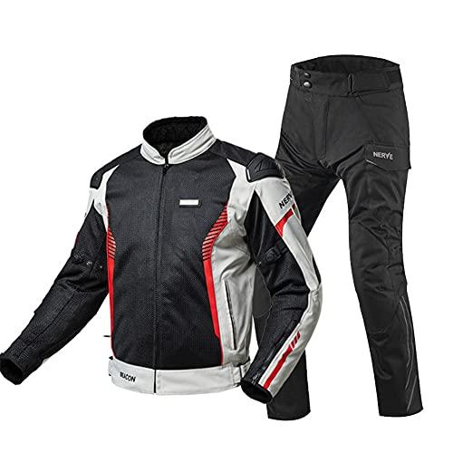 LITI Chaqueta De Moto De Motocicleta + Motocicleta Pantalones 2 Piezas Armadura De Equipo De Protección Otoño Invierno Verano para Toda Estaciòn