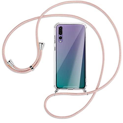 mtb more energy® Handykette kompatibel mit Huawei P20 Pro (6.1'') - roségold - Smartphone Hülle zum Umhängen - Anti Shock Strong TPU Hülle
