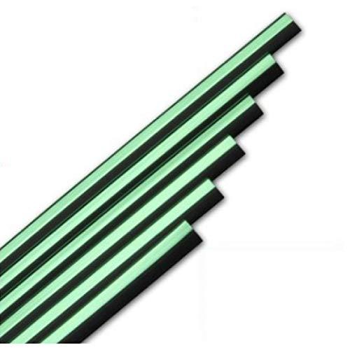 ZHANGERDAN Tiras de decoración de automóviles Rejillas de ventilación de aire de hoja cromada molduras de llanta.Para VW Polo 6r GTI Golf 4 5 6 7.Para Jetta MK5 MK6 Sharan CC
