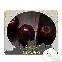 新鮮なチェリーの果実の自然の写真 クリスマスイブのゴムマウスパッド
