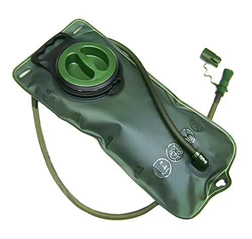 PRECORN Trinkbeutel grün mit Schlauch 2 Liter Fassungsvermögen Trinkblase Wassersack Camping Sport