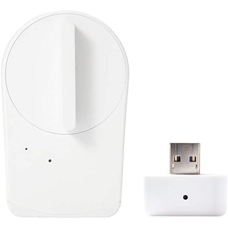 【Works with Alexa認定製品】 セサミ mini スマートロック本体 パールホワイト + Wi-Fiアクセスポイント 取付簡単 スマートフォンでドアを施錠解錠 Google Assistant/Siriショートカット/Apple Watch/IFTTT対応