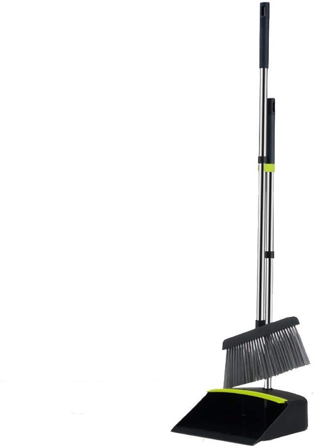 ipinlei Max 47% OFF Baronon Dustpan and Broom Save money Upright Set Extra Lo Sweep