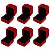 metagio 6 cajas de anillos de terciopelo de alta calidad, cuadradas, 55 x 50 x...
