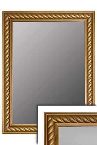 elbmöbel - Specchio da Parete in Legno Anticato, Stile Barocco, con Cornice in Legno