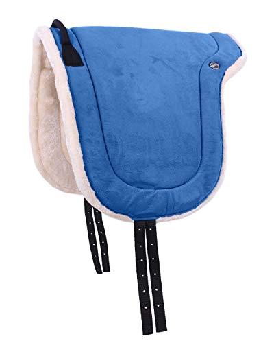 QHP Bareback Pad mit Kunstfell und Haltegriff (Pony, Sky)