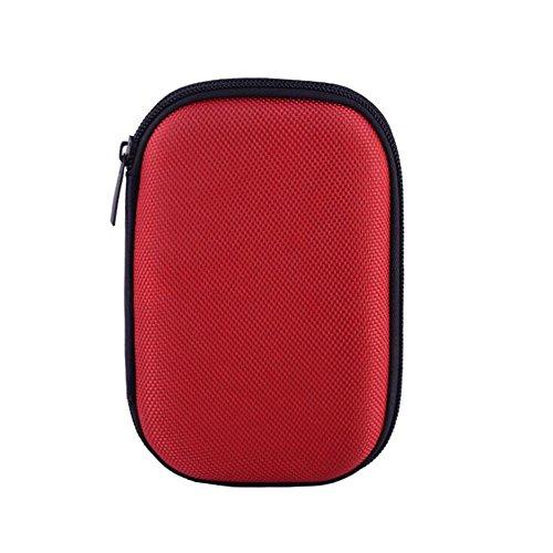 Drawihi Fashion Data Line Aufbewahrungsbeutel Ladegerät Aufbewahrungsbox Headset Mobile Festplatte Reisetasche (Rot)
