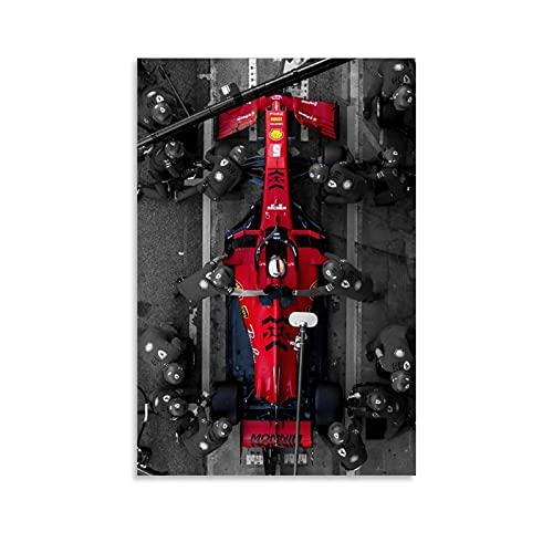 GOUWEI Póster de Ferrari Phone Wallpaper F1, cuadro decorativo, lienzo para pared, sala de estar, póster, dormitorio,...