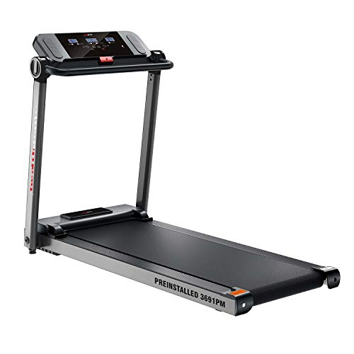 Healthgenie 3691PM Pre-Installed, 3.5HP at Peak Motorized Treadmill, Fitness Running Machine with LCD Display for…