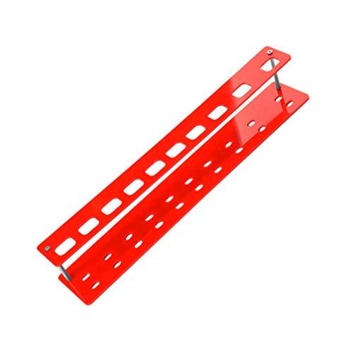 Lurrose brosse air séchage rack acrylique cosmétique brosse titulaire étagère de rangement organisateur sans brosse
