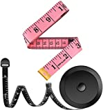 2 Pack Tape Measure Measuring Tape for Body Sewing Tailor Cloth Fabric Craft Weight Loss Measurements, 60-Inch...