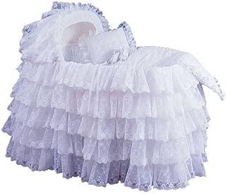 Babydoll Extravaganza Bassinet Liner/Skirt & Hood, White, 17