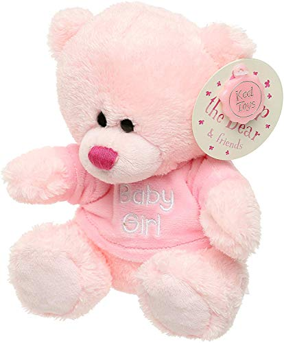 Neugeborene Geschenke – Kleiner rosa Teddybär Geschenk für Baby Mädchen