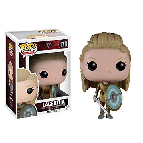 A-Generic Figura de Personajes de Dibujos Animados: Vikingos - Figura de Vinilo Coleccionable de Ragnar Lothbrok de la Serie de televisión Pop, Modelo de Anime Personaje de Anime