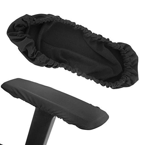 Dingln 1 Paar Abnehmbare Stuhl Armlehne Abdeckungen Elastische Schutz Büro Sessel Cover Black