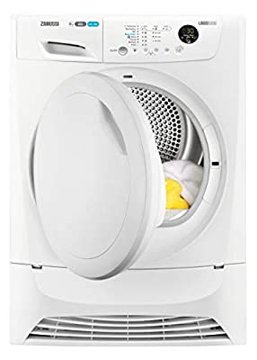 Zanussi ZDH8903PZ Freestanding Heat Pump Tumble Dryer, 8kg Load, White