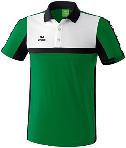 Erima Herren Classic 5-C Poloshirt, smaragd/schwarz/weiß, XXXL