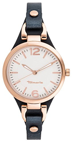 Tamaris Damen-Armbanduhr Virginia Analog Quarz Leder B02219010