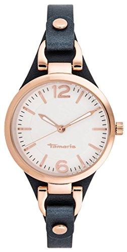 Tamaris Damen-Armbanduhr Virginia Analog Quarz Leder B02219010