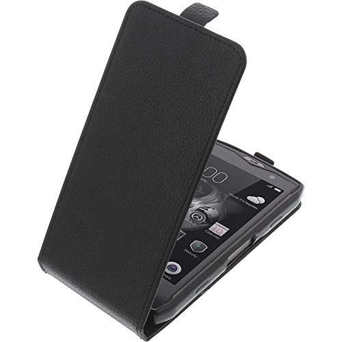 foto-kontor Tasche für Blackview BV8000 Pro Smartphone Flipstyle Schutz Hülle schwarz