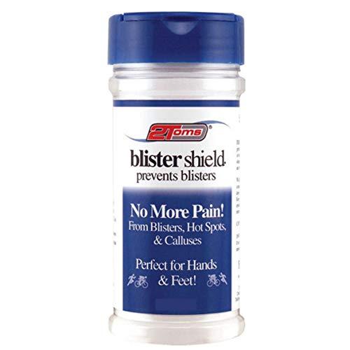 2Toms BlisterShield -langer intensiver Schutz gegen Blasen, Druckstellen und Schwielen (Streudose 227 Gramm / 8 oz)