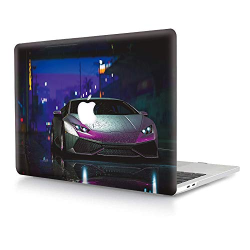 Hard Case for MacBook Air 13 inch (Models: A1369/A1466, 2010-2017 Release),AJYX Plastic Hard Shell Case Protective Cover Compatible with Older Version MacBook Air 13.3 - Silver Lamborghini