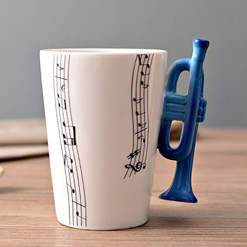 Lynn025Keats - Tazas de cerámica pintadas a mano, notas creativas, tazas musicales, tazas de café, regalos y instrumentos musicales