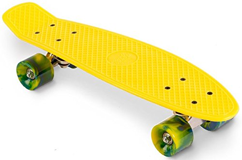 Streetsurfing Street Surfing Skateboard 22 Beach Board, Yellow, M
